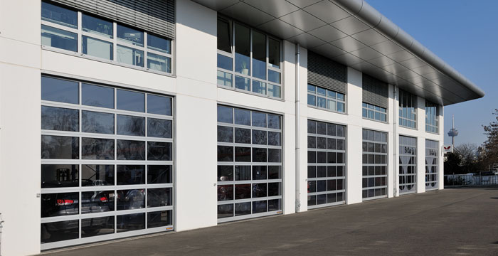 Hormann H-720A Glazed Aluminum Sectional Doors